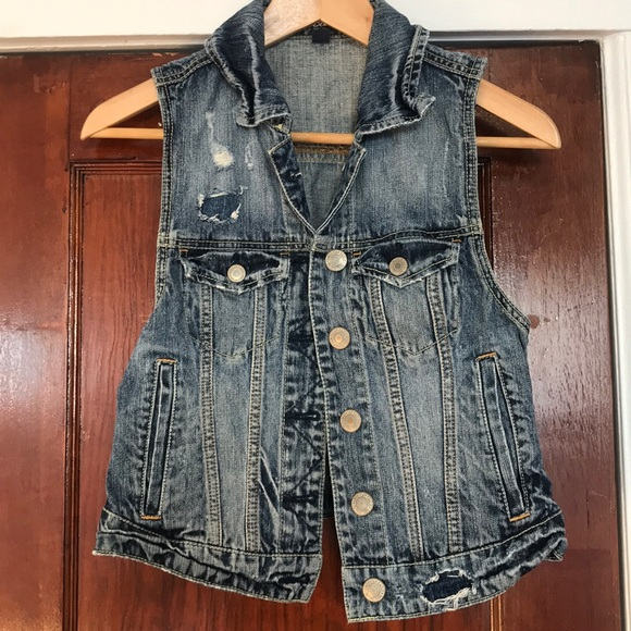 American Eagle Outfitters Jackets & Blazers - American Eagle Outfitters Denim Vest